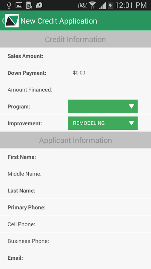 Service Finance Dealer App- screenshot