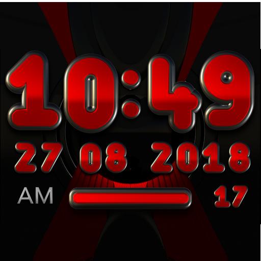 RED ABYSS Digital Clock Widget