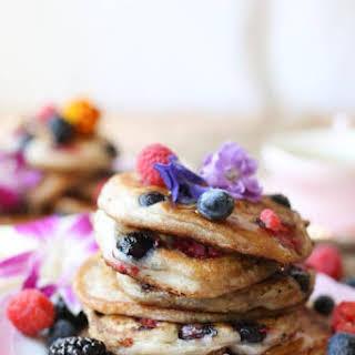 Gluten Free Vegan Elderflower Pancakes.