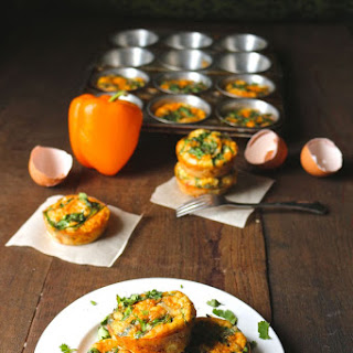 Chorizo Spinach and Sweet Pepper Egg Muffins.