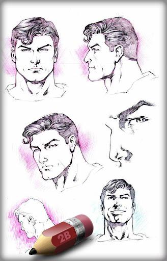 Sketch Super Man Of Steel