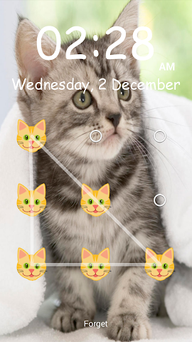 android Kitty Pattern Lock- Screenshot 5