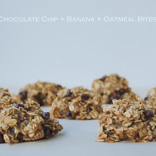 CHOCOLATE CHIP + BANANA + OATMEAL BITES.