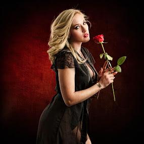 The Rose by Kelley Hurwitz Ahr - People Portraits of Women ( kelley ahr, kelley hurwitz ahr, artistic nude )