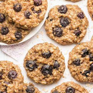 Healthy Blueberry Banana Oatmeal Cookies.