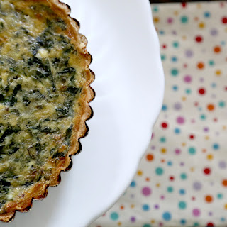 SPINACH & EGG WHITE QUICHE (adapted from Eating Well)