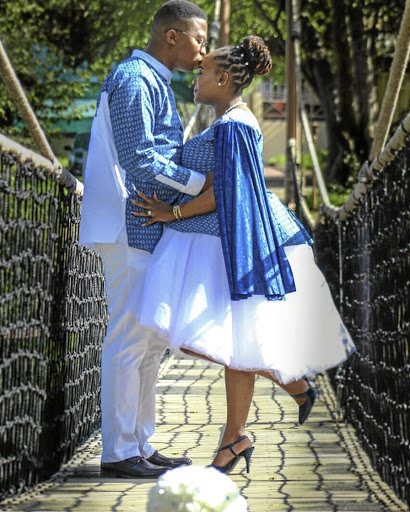 Mmapaseka and Kabelo Moiloanyane celebrate their love