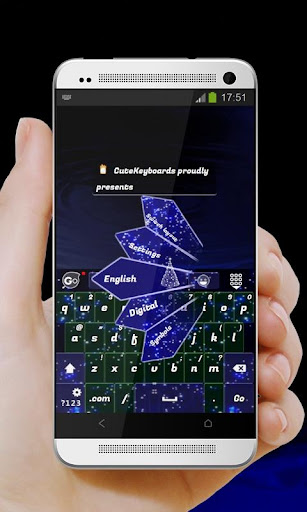 蓝色圣诞 GO Keyboard