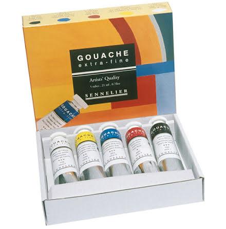 Sennelier Gouache x-fine set 5x21ml