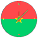 Burkina Faso Clock Widget
