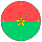 Burkina Faso Clock Widget icon