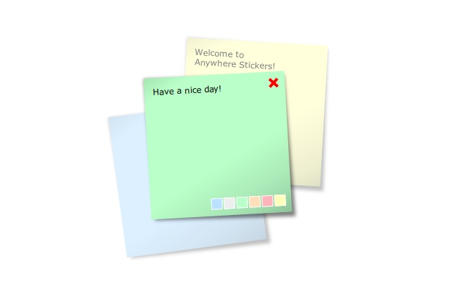 Anywhere stickers - simple sticky notes