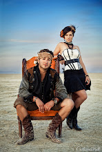 Photo: PHOTO OF THE DAY: THE PUNK BRILLIANCE OF ASIEL DESIGN  At a wedding I photographed at Burning Man, I organized a last-minute photo shoot with Jonathan Michael and Linnae Asiel of avant-garde design firm, Asiel Design. This couple is the epitome of cool – widely adored for their eclectic, inventive artistry, yet they really are just down-to-earth, and genuinely nice people to be around. Check out their work at http://www.asieldesign.com.  More: http://www.catherinehall.net/blog/?p=5411