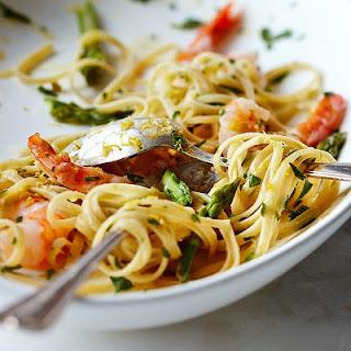 Linguine With Spicy Gremolata Shrimp