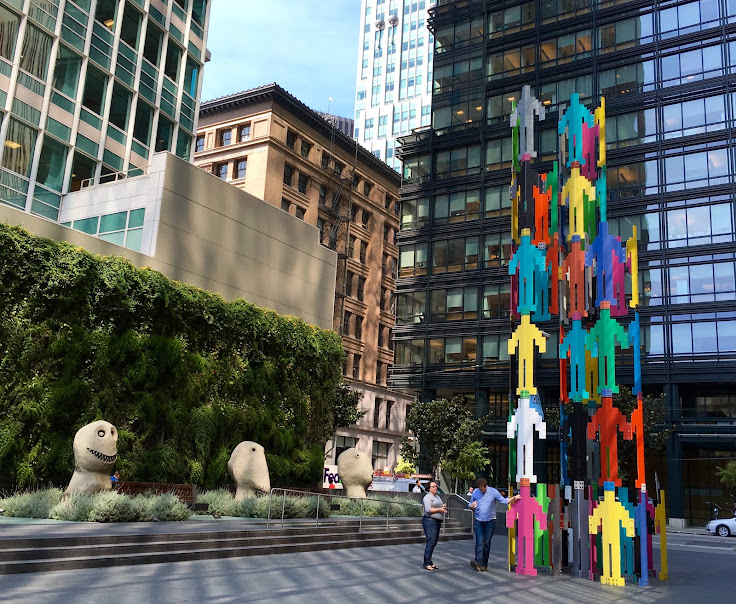 """Moonrise Sculptures"" and ""Human Structures (San Francisco)"""