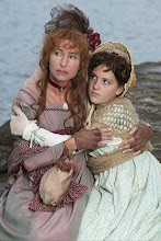 Photo: Emma and daughter Horatia, aged ten, heartbroken and destitute after Nelson's death