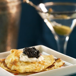 Sterling Cooper Blini with Caviar