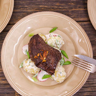 Hanger Steak With Sour Cream and Onion Potato Salad