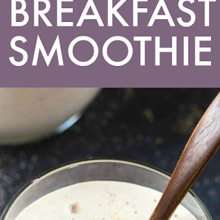 Healthy 3 Ingredient Banana Breakfast Smoothie Recipe