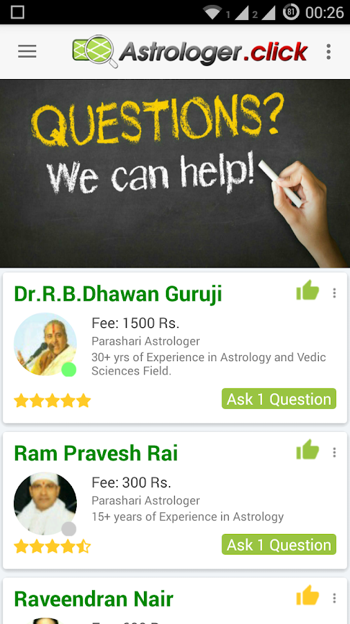Ask Question to Astrologer Chat Astrologer.Click- screenshot