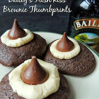 Bailey's Irish Kiss Brownie Thumbprints.
