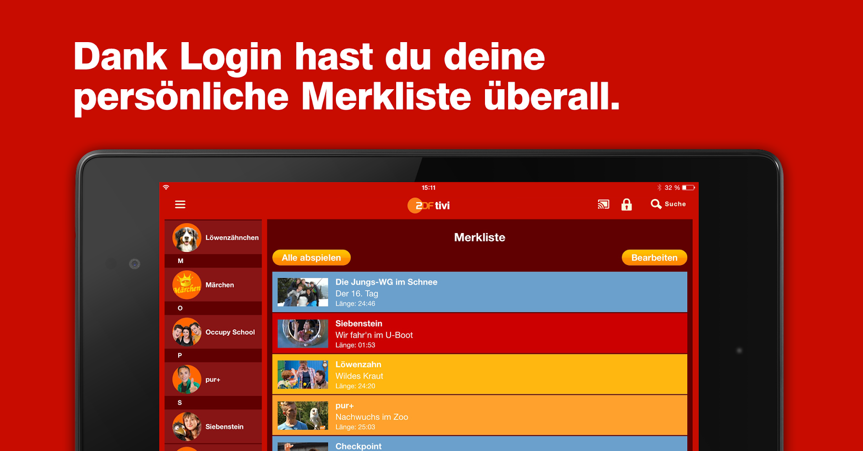 ZDFtivi-App – Screenshot