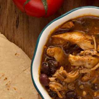 Pressure Cooker Salsa Lime Chicken with Black Beans.