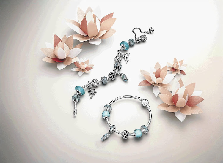 Charms from one of jewellery brand Pandora's collections