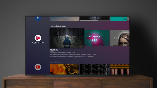 Android TV Home Screenshot