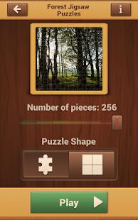 Lesní Puzzle Hry - náhled