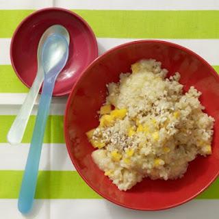 Banana-Almond Porridge with Bulgur