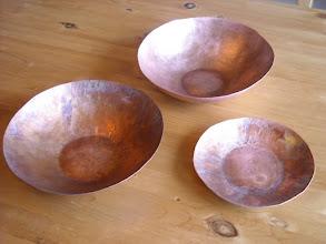 Photo: various copper bowls