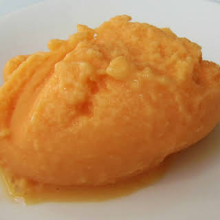 Cantaloupe Melon Frozen Yoghurt.