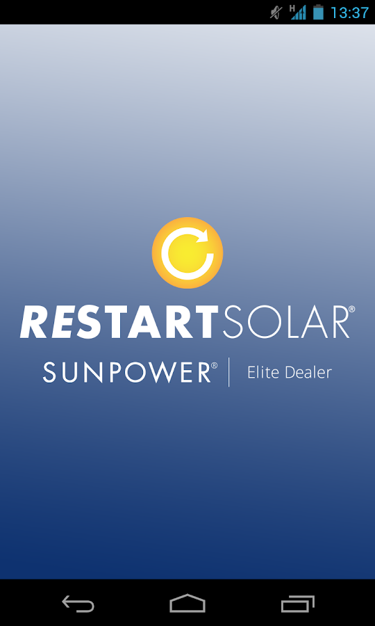 Restart Solar- screenshot