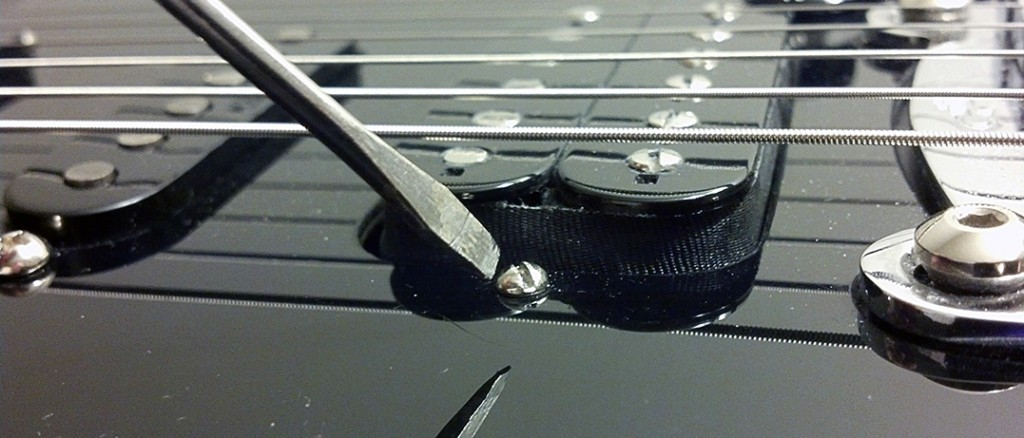 How to adjust pickup height on guitar