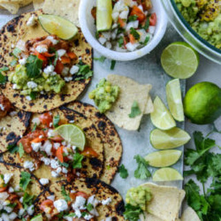 Chicken Tinga Tacos with Grilled Corn Guac.