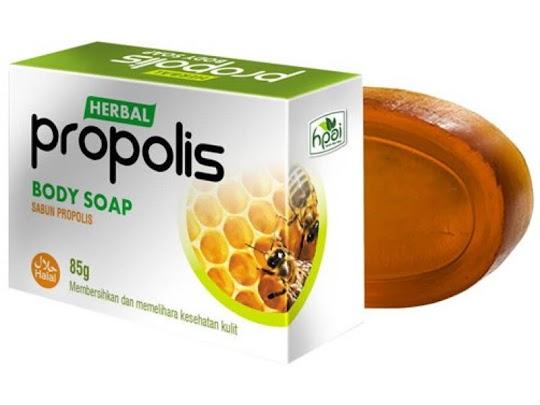Sabun Propolis HPAI Body Soap NATURAL PROPOLIS sabun herbal membersikan melembabkan kulit
