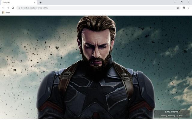 Captain America New Tab
