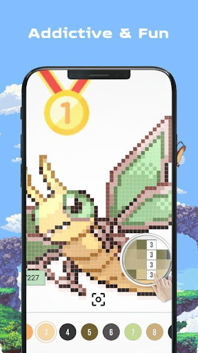 Color by Number - Pokees 3.9 screenshots 4