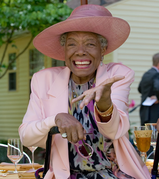 Maya Angelou on her 82nd birthday