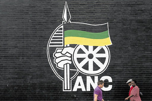 PARTY STRUCTURE: An ANC logo on a wall in downtown Bloemfontein this week ahead of the elective conference