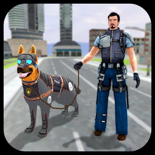 Robotic Police Dog: K9 Dog Chase Simulator