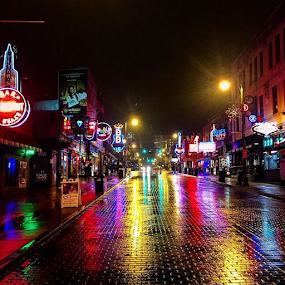 by Chuck Hagan - Instagram & Mobile iPhone ( bealestreet, memphis, blues,  )