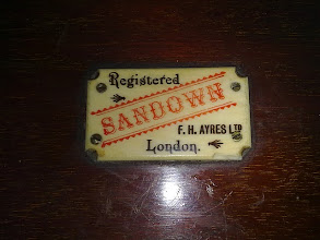 """Photo: """"Sandown"""" racing game by Ayres  The name refers to Sandown Park, the famous English Racecourse  (not owned by me - photo thanks to Victor)"""