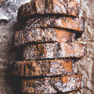 Almond Butter Chocolate Marble Pound Cake [GF + DF].