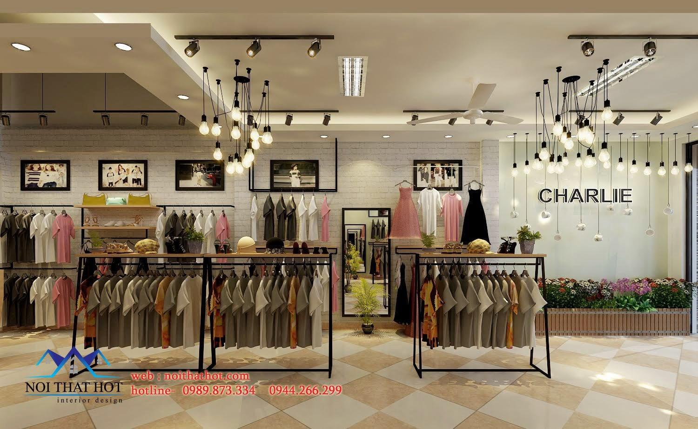 thiết kế shop thời trang đẹp mắt tại thái nguyên