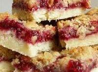 Raspberry Bars with Lemon Icing Drizzle