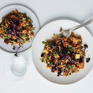 Warm Cauliflower Couscous Salad with Roasted Roots, Hazelnuts and Crispy Spiced Chickpeas Recipe