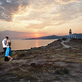 Sunset by Magnus Bogucki - People Couples ( mykonos, wedding, greece )