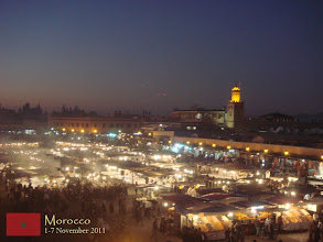 Photo: the glowing Djemaa El-Fna at night